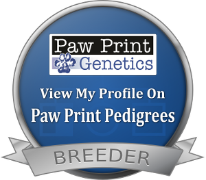 Paw Print Genetics Breeder Badge